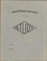 Protège Cahier Study - Carton Léger - EdT - Carte De France - Département 75 Avant 68 - Très Bon état - S