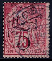 ✔️ Nouvelle Calédonie 1892 - Timbres Colonies Avec Surcharge Noire  (D) NOUMEA - Yv. 37 (o) - Gebraucht