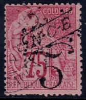 ✔️ Nouvelle Calédonie 1892 - Timbres Colonies Avec Surcharge Noire - Yv. 37 (o) - Gebraucht