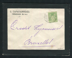 Rare Lettre De Trébizonde ( Mer Noire - Turquie 1902 ) Pour Bruxelles Avec Un N° 102 - 1877-1920: Semi Modern Period