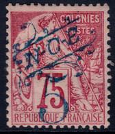 ✔️ Nouvelle Calédonie 1892 - Timbres Colonies Avec Surcharge Bleu - Yv. 38 * MH - Neukaledonien