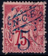 ✔️ Nouvelle Calédonie 1892 - Timbres Colonies Avec Surcharge Bleu - Yv. 38 (o) - Gebraucht