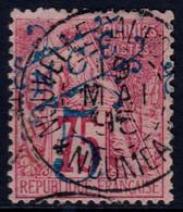 ✔️ Nouvelle Calédonie 1892 - Timbres Colonies Avec Surcharge Bleu Cachet Central NOUMEA - Yv. 38 (o) - Gebraucht