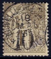 ✔️ Nouvelle Calédonie 1892 - Timbres Colonies Avec Surcharge Noir Cachet Central NOUMEA - Yv. 39 (o) - Gebraucht