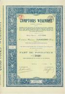 Titre Ancien - Comptoirs Wégimont - Société Anonyme  - Titre De 1921 - EF - Bank & Insurance