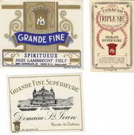 5 Oude Dranketiketten Van STOKERIJ HUIS LAMBRECHT In TIELT - Labels