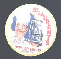 Oud Etiket : LOKEREN, DEVRIESE VAN LOO, ST. LAURENt's DESSERTBESCHUITEN - Labels