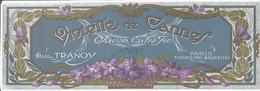 Oud Etiket :SAVON VIOLETTE DE CANNES,  TRANOY, PARIS BRUXELLES Et TOURCOING, Zeep, Soap - Labels