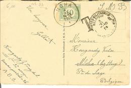 """CP De BERLIN """" Opernhaus ..."""" Avec Taxe Nr TX33 De 10 Cents De MOHA  1924 Cachet Militaire BELGIQUE 6         RARE - Postage Due"""