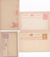4 CARTES ENTIERS POSTAUX AUSTRALIE - Victoria - Entier Postal Non Circulé - 1850-1912 Victoria
