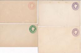 4 ENVELOPPES ENTIERS POSTAUX AUSTRALIE - Victoria - Entier Postal Non Circulé - 1850-1912 Victoria