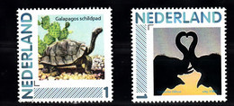 Nederland Persoonlijke Zegels:animals: Galapagos Schilpad, Olifant, Turtle, Elephant - Ungebraucht