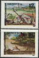 DOMINICAN REPUBLIC 1995 America Upaep Nature Reserves Ecology Preservation Flamingos Birds Animals Fauna MNH - Flamingos