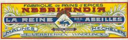 Oud Etiket LA REINE DES ABEILLES, PAIN D'EPICES, MECHELEN, MALINES L. VERSTERREN-WINDELINCX - Labels