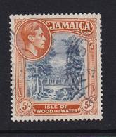 Jamaica: 1938/52   KGVI    SG132    5/-  [Perf: 14]   Used - Jamaica (...-1961)