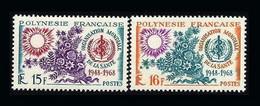 Polynesie 1968 Yvert   60/1** 60/61 ** OMS - Sante - Health - Ungebraucht