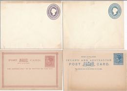 2 ENVELOPPES 2 CARTES ENTIERS POSTAL POSTAUX NEW ZELAND ZEALAND - 1855-1907 Kronenkolonie