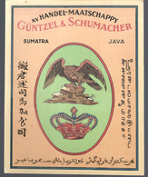 Oud Etiket Chromolithographie Vernis : Handelsmij GUNTZEL & SCHUMACHER, SUMATRA , JAVA - Labels