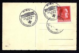 DR Postkarte WIEN - 20. April 1938 - Mi.664 - Des Führers Geburtstag - Deutschland