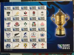 Rugby Cup 2011 New Zealand Nouvelle Zélande Bloc Feuillet Neuf - Blocks & Kleinbögen