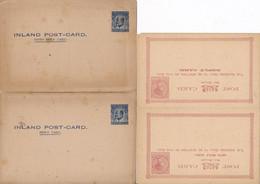 2 DOUBLES  CARTES ENTIERS POSTAL REPLY POSTAUX NEW ZELAND ZEALAND - 1855-1907 Kronenkolonie