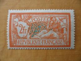 FRANCE MERSON  2 Francs Orange Neuf Sans Charnière  Cote 150 € - 1900-27 Merson