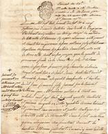 Généralité Du Roussillon,deux Sols,27/10/1777 Sur Acte Notarié. - Gebührenstempel, Impoststempel