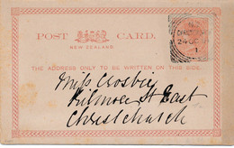 1 CARTE ENTIER  POSTAL POSTAUX NEW ZELAND ZEALAND De  CHRISTCHURCH 189? - 1855-1907 Kronenkolonie