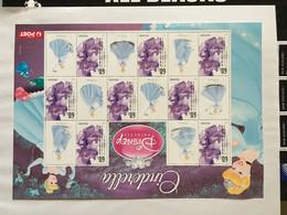 Australie Australia Feuillet Disney Cinderella Cendrillon Jacaranda 2011 - Blocks & Kleinbögen