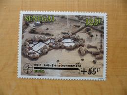 SENEGAL RARE ENDA Surchargé + 55 F Agir Sur L'environnement Neufs Sans Charnière Voir Scan - Senegal (1960-...)