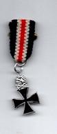 Iron Cross - Croix De Fer - Décoration Miniature 6 Cm X 1,7 Cm (avec Ruban) - Scan R/V - Germania
