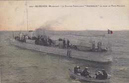 "Morbihan - Quiberon - Le Contre-Torpilleur ""Grondeur"" En Rade De Port-Haligen - Quiberon"