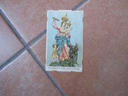 Madonna Del SOCCORSO Orazione Giaculatoria Maria Santissima Mantegazza Sagomata - Devotieprenten