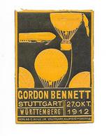 Gordon Bennett,Ballon, Montgolfiere - Gebührenstempel, Impoststempel