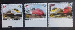 BELGIE Spoorweg    TRV  6 - 8  Met Bladboord En Plaatnummer     Postfris **  CW 20,00 - 1952-....