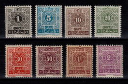 Maroc - YV Taxe 27 à 34 N**complete Cote 7,50++ Euros - Segnatasse