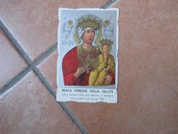 Beata Vergine Della Salute Basilica Venezia Policroma Fondo Argento 1938 - Devotieprenten