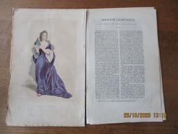 ADRIENNE LECOUVREUR NEE A FISMES EN 1690 MORTE EN 1730 DESSINEE PAR H.DUPONT  GRAVE PAR GEILLE TEXTE 8 PAGES PAR  S.GAY - Other