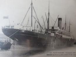 Transport De Troupes Alliés à Saint Nazaire - Passagiersschepen