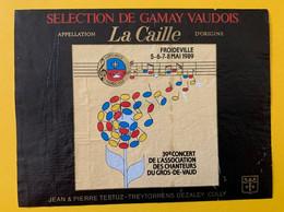 16411 - 39e Concert Des Chanteurs Du Gros-de-Vaud Froideville 1989 - Other
