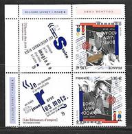 Fg237   France Boris Vian Paire Tête Bèche N°5406 N++ Issue Du Feuillet - Frankreich