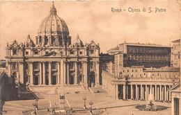"""9765""""ROMA-CHIESA DI S. PIETRO""""-VERA FOTO-CARTOLINA SPEDITA 1909 DA ROMA IN FRANCIA TASSATA - San Pietro"""