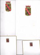Lot De 4 Menus. Ecole Hôtelière Provinciale De Namur. 1976 - 1978. Un Menu En L'honneur Du Roi Et De La Reine. 25 Ans. - Menu