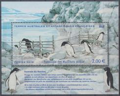 TAAF 2012 - Bloc Passerelle Des Manchots Adélie - Neuf** - Pingueinos