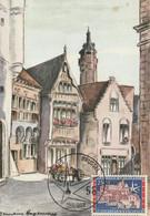 Carte Maximum -  Vieilles Maisons Ansversoises - 1951-1960