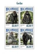 MOZAMBIQUE 2013 SHEET GORILLAS GORILLES GORILAS MONKEYS PRIMATES SINGES MONOS AFFEN MACACOS WILDLIFE Moz13514a - Mozambique