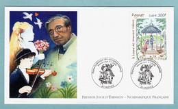 FDC France 2000 - Le Kiosque Des Amoureux De Raymond Peynet  - YT 3359 - 26 Valence - 2000-2009