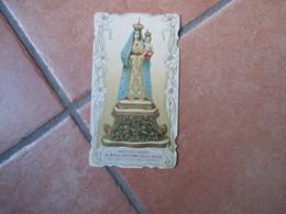 Maria SS.delle Grazie Bambin Gesù Madre Misericordia Venerata Torre Ruggiero Catanzaro Sagomata Epoca - Devotieprenten
