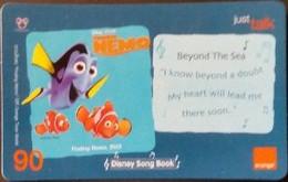 Mobilecard Thailand - Orange  - Disney Song Book - Finding Nemo - Tailandia