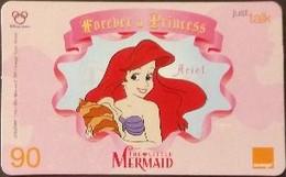 Mobilecard Thailand - Orange  - Disney - Forever A Princess - Ariel - Tailandia